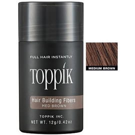 Изображение Пудра загуститель для волос Toppik (средне-коричневый) 12гр